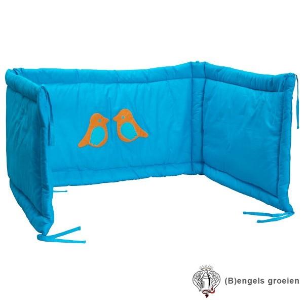 Hoofdbeschermer - Organic - Birdy - Turquoise/Oranje
