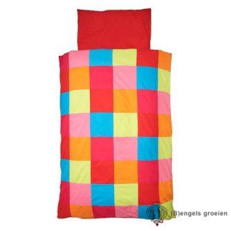 Overtrek en sloop - Juniorbed - Colourful Check