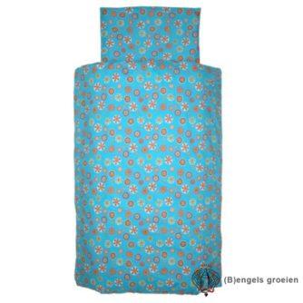 Overtrek en sloop - Juniorbed - Cirkel - Turquoise