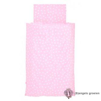 Overtrek en sloop - Juniorbed - Hearts Pink