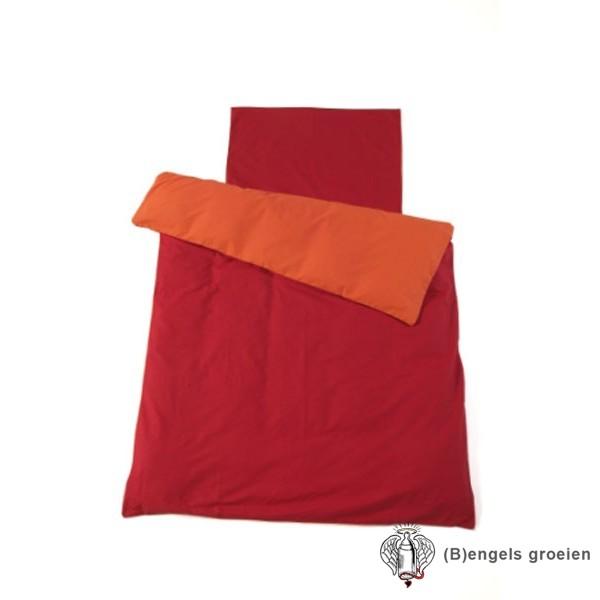 Overtrek en sloop - Juniorbed - Oranje/Rood