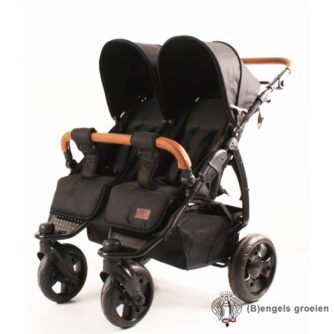 Tweelingwagen - K2 Plus - Black Leather