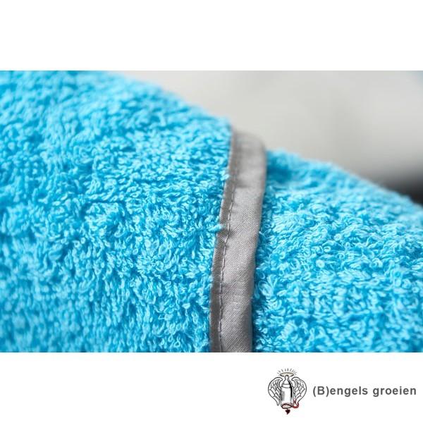 Slab - Badstof - Aqua/Grijs