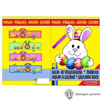 Kleur- en Spelletjesboek - A4 - Pasen