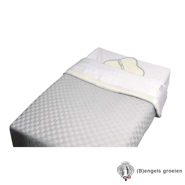 Bedset - Wieg - 3-delig - Fiore Wit