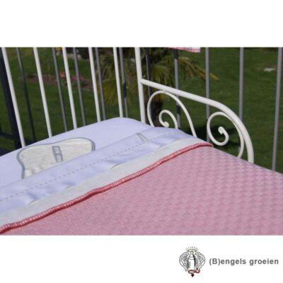 Deken - Wieg - La Ninna - Gebreid - Roze