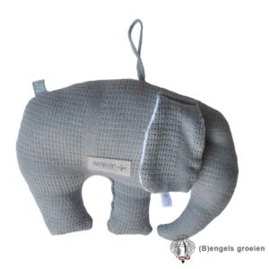 Decoratiekussen - Olifant - New Vintage - Grijs