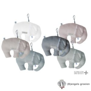 Decoratiekussen - Olifant - New Vintage - Wit