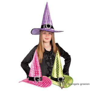 Halloween - Heksenhoed - Speckles - Roze