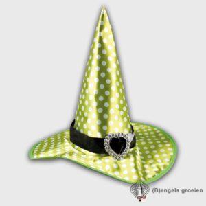 Halloween - Heksenhoed - Speckles - Groen