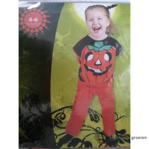 Halloween - Kinderkostuum - Pompoen - 4 - 6 jr
