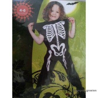 Halloween - Kinderkostuum - Skelet - 4 - 6 jr