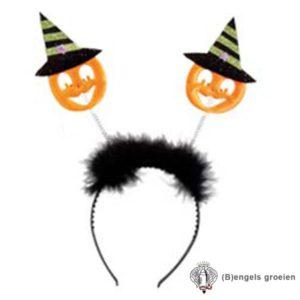 Halloween - Tiara - Pompoen - Groen