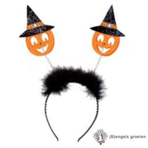 Halloween - Tiara - Pompoen - Oranje