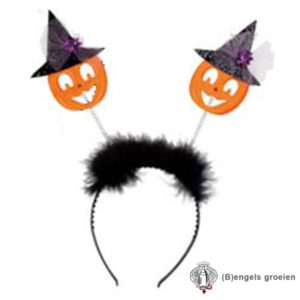 Halloween - Tiara - Pompoen - Paars