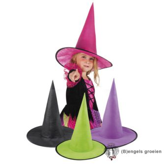 Halloween - Heksenhoed - Little Ursula - Zwart