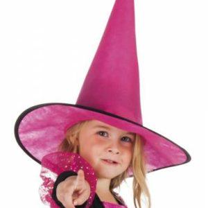 Halloween - Heksenhoed - Little Ursula - Roze