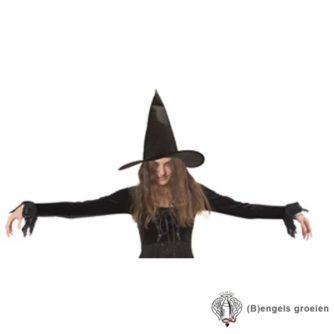 Halloween - Heksenhoed - Ursula - Zwart