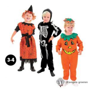 Halloween - Kinderkostuum - Heks - Oranje - 3 - 4 jr