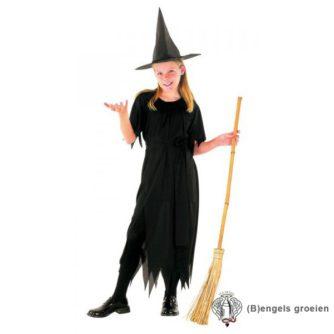 Halloween - Kinderkostuum - Heks - Zwart - 7 - 9 jr