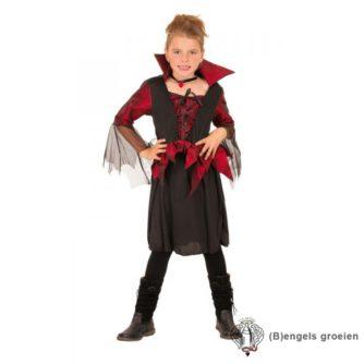 Halloween - Kinderkostuum - Heks - Rood - 7 - 9 jr