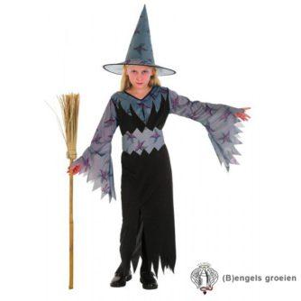 Halloween - Kinderkostuum - Heks - Grijs - 7 - 9 jr