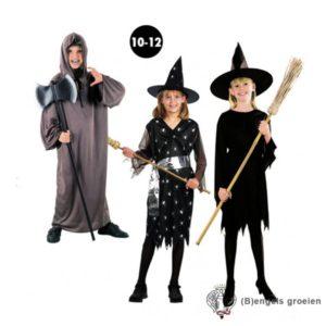 Halloween - Kinderkostuum - Heks - Zwart - 10 - 12 jr