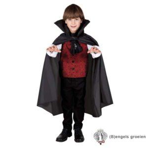 Halloween - Kindercape - Vampier - Zwart - 7 - 9 jr