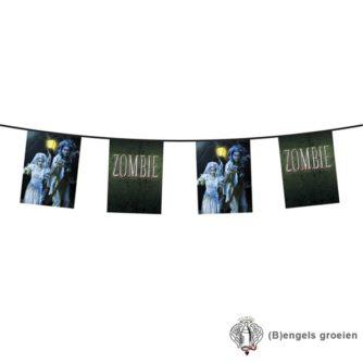 Halloween - Vlaggenlijn - Zombies - Dubbelzijdig - 6 m