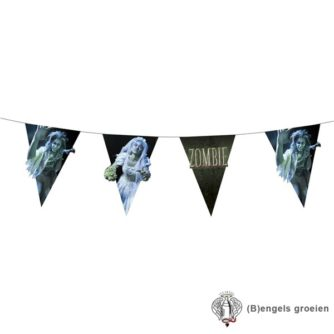 Halloween - Vlaggenlijn - Zombie - Dubbelzijdig - 4 m