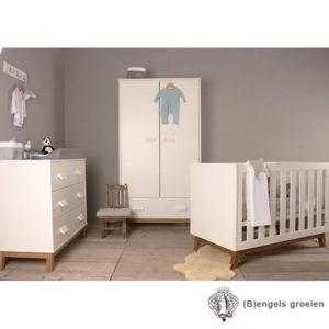 Complete babykamer - New Vintage - Wit/Beuken