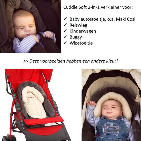 Universele Autostoelverkleiner - Cuddle Soft - Grijs/Lichtgrijs