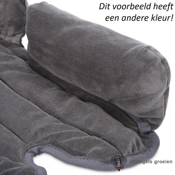 Universele Autostoelverkleiner - Cuddle Soft - Blauw/Grijs