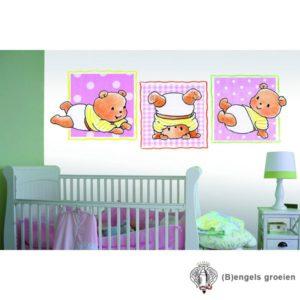 Posterbehang - Triple Fun Pink - 4 Panelen