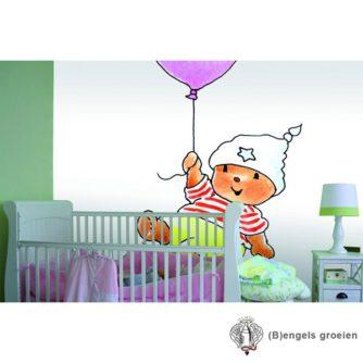 Posterbehang - Bobbi with a Pink Balloon - 3 Panelen