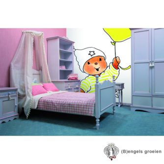 Posterbehang - Bobbi with a Yellow Balloon - 4 Panelen