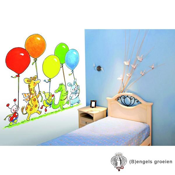 Posterbehang - Balloon Parade - 4 Panelen