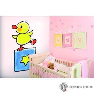Posterbehang - Duck on Block - 3 Panelen