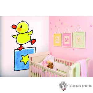Posterbehang - Duck on Block - 4 Panelen