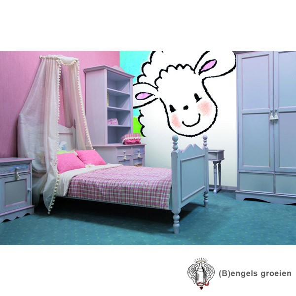 Posterbehang - Big Jolly Sheep - 4 Panelen