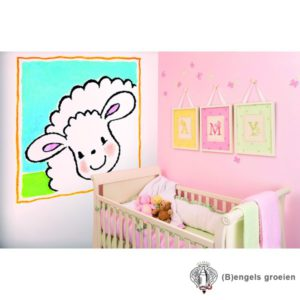 Posterbehang - Jolly Sheep Frame - 4 Panelen