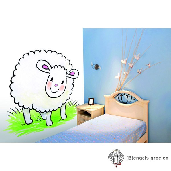 Posterbehang - Jolly Sheep  - 3 Panelen