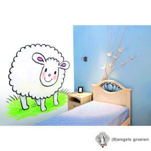 Posterbehang - Jolly Sheep  - 4 Panelen