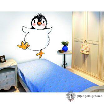 Posterbehang - Penguin on White - 4 Panelen