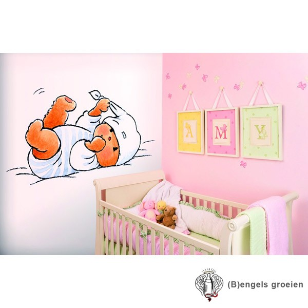Posterbehang - Bear Bed - 4 Panelen