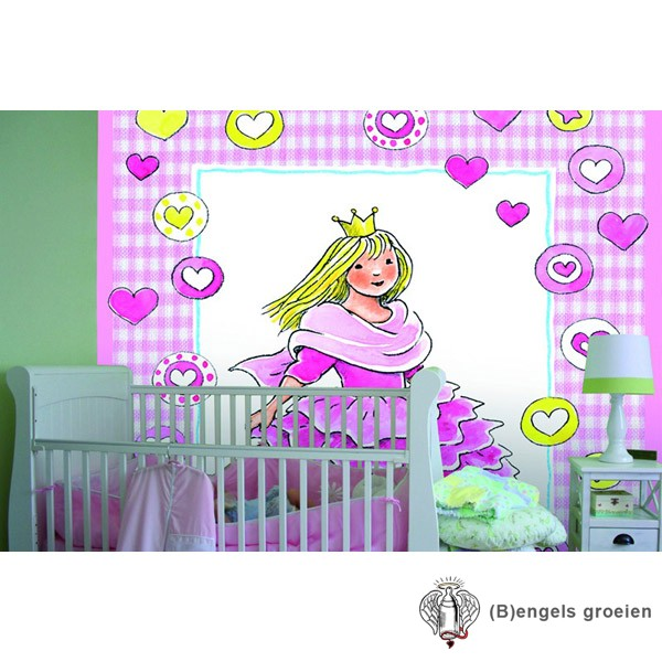 Posterbehang - Lovely Princess - 3 Panelen