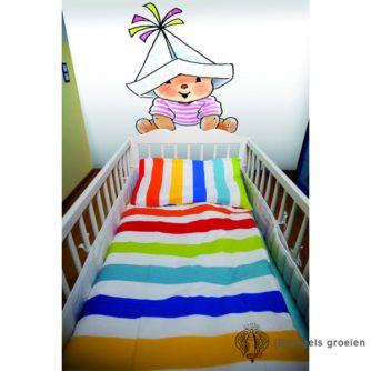 Posterbehang - Bobbi with a paper Hat Pink - 3 Panelen
