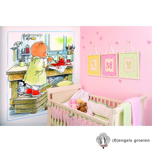 Posterbehang - Bobbi Paints - 4 Panelen