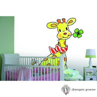 Posterbehang - Lucky Giraffe - 4 Panelen