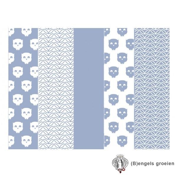 Hydrofiel luiers - Owl - Blauw (6 st.)
